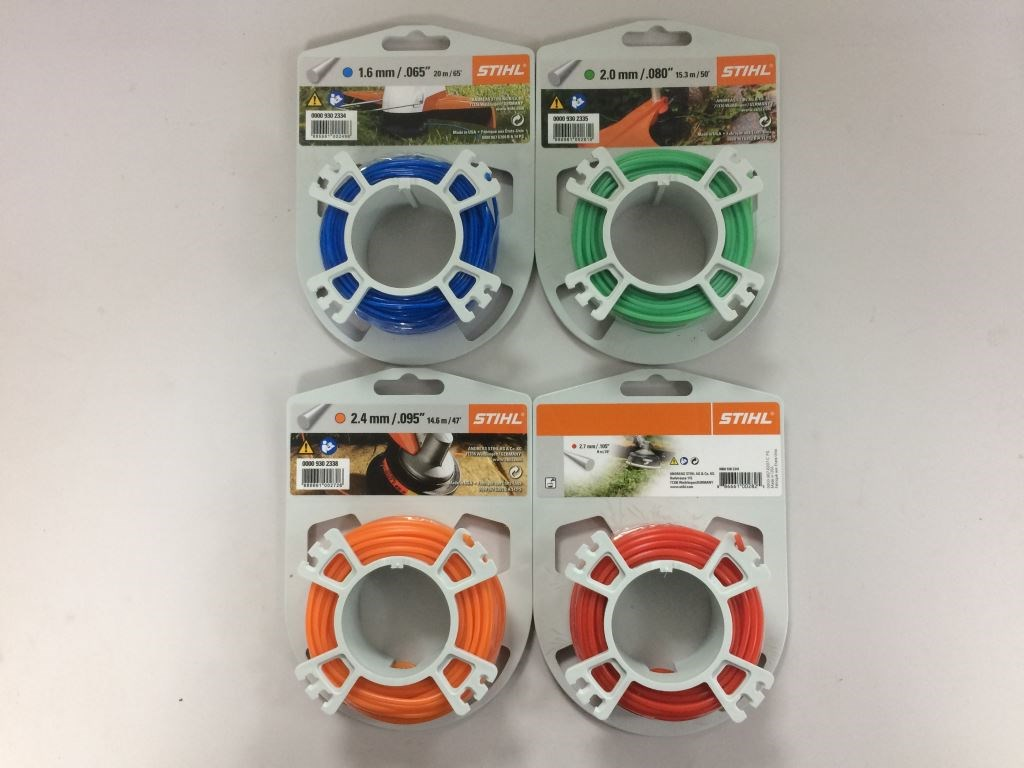 Stihl strimmer lines in various sizes